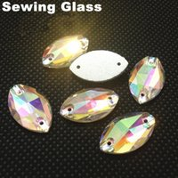Glass best tv glasses - BEST QUALITY Sew on horse eye Flatback crystal beads x18mm crystal CPAM free Use for garment Crystal AB