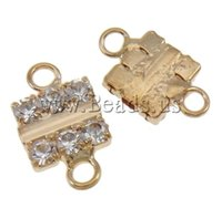western rhinestone jewelry - Brass Jewelry Connector Western Jewelry Square KC gold color plated with rhinestone loop nickel