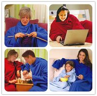 Wholesale High Quality Warm Soft Fleece Blanket With Sleeve Winter TV Sofa Blanket by DHL