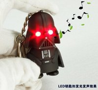 antique jade pendant - HOT SALE Star Wars Darth Vader Keychains Accessories LED Luminous keychain colors lights Key rings cute Pendant