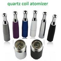 best skillets - 2016 new coming healthy quartz atomizers dual quartz coil atomizer skillet wax quartz atomizer best wax atomizer quartz glass rod coil