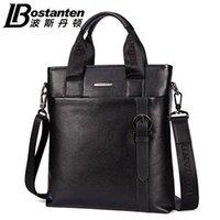 Wholesale New BOSTANTEN Men s Genuine Leather Real Cowhide Handbag Messenger Shoulder Tote Briefcase Hand Bag Purse