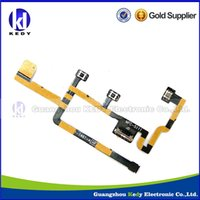 Wholesale For Apple iPad2 ipad CDMA Power On Off Keypad Silent Switch Mute Volume Button Flex Cable ribbon Replacement Parts High quality
