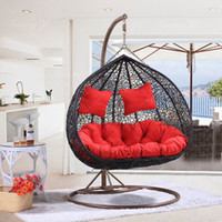 Wholesale Hot explosion models adult casual outdoor rattan nest swing hanging chair indoor dormitory balcony Double basket LD