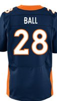 ball names - Factory Outlet Men s Montee Ball Jersey Elite White Orange Blue Stitched Name And Number
