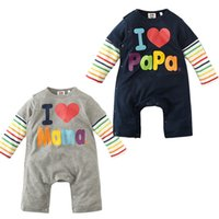 baba clothing - Autumn amp winter baby clothing I love MAMA BABA cotton baby onsie romper clothes bebe jumpsuit for Newborn Baby