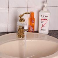 bath vessel faucets - Vessel sink golden faucet fashion gold and white painted bathroom faucets toilet bath sink mixer tap