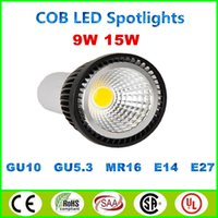 Wholesale CE ROHS CSA UL W W COB Led Spotlights Lamp GU10 E27 E26 MR16 GU5 spotlight Dimmable Led Bulbs V V