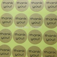 Wholesale Lovely Round Thank You Stickers Circle Stickers Thank You Label