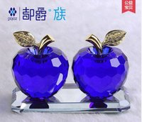 Wholesale K9 crystal apple car accessories can be used as ornaments but also do Home Furnishing decorations and Christmas gifts
