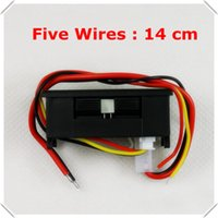 ammeter wiring - Five color Green Blue RedYellow Red LED DC0 V A Dual Digital Ammeter Voltmeter wire voltage current meter