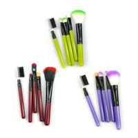 Wholesale 5Pcs Makeup Blush Eyeshadow Leopard Brushes Lipstic Cosmetic Brush Set Tool New Hot Selling
