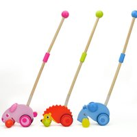 Wholesale How cool Animal make noise kids toys with wood material excellent quality and cheap toys for baby to play
