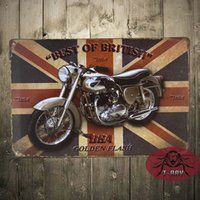 Wholesale Best of British BSA Vintage Tin signs art wall decor iron Paintings Bar Home Wall painting CM