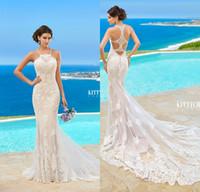 Wholesale 2016 Kitty Chen Plus Size Wedding Dresses Spaghetti Applique Backless Bridal Wedding Gowns Beach Vestidos De Novia Custom Made