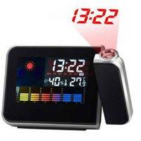 Wholesale Projection LCD Digital Alarm Clock Projector Color Display LED Backlight Table Desktop Clocks Reloj Despertador Relogio