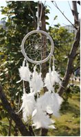 native american - 200pcs good price colors black white feathers ornaments native american indian dream catcher DIA D495