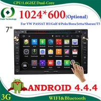 Wholesale 2 din car dvd player Android for VW universal PASSAT B5 Golf Polo Bora Jetta Sharan T5 car gps radio optional