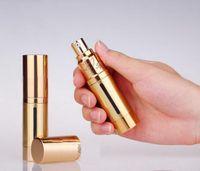 Wholesale 15ml oz metal aluminum Empty refillable Airless Lotion Treatment Pump Cosmetic Bottles ml oz For makeup primer gels lotions