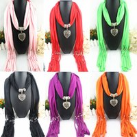 Wholesale FreeDHL Scarf Jewelry with Beads Pendant Scarves Jewellery Fashion animal Charms Necklace Mix Color style Random Delivery E83L