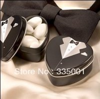 Cheap wedding favor--Dressed to the Nines - Tuxedo Mint Tin which is used as candy packing 052828