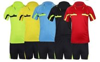 Wholesale NEW Professional branded soccer referee clothing football judge s uniform soccer jersey mixed order support