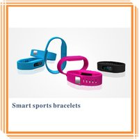 Wholesale 5 Colors Smart Sports Bracelets Healthy Records Pedometer Colorful Wristbands Wireless OLED Sleep Monitoring Remote Camera Bracelets