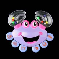 Wholesale 1Pcs Kids Baby Crab Design Handbell Musical Instrument Jingle Shaking Rattle Toy Newest