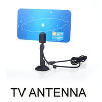 Wholesale Digital Indoor TV Antenna HDTV DTV HD VHF UHF Flat Design High Gain US Plug
