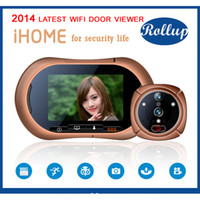 Wholesale Wireless WIFI Door Viewer IR Video Photo Motion Detection Intercom Doorbell Digital Peelhole Eye Door Camera