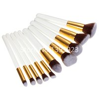 Wholesale 10pcs Set Professional Cosmetic Makeup Brushes Set tools Wool Brand Make Up Brush