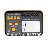 Wholesale VC60B V V1000V LCD Display Digital Insulation Resistance Tester Megger MegOhm Meter mm order lt no track