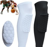Wholesale 2pcs Honeycomb Knee Pads Bumper Crashproof Football Basketball Leg Sleeve Sports Kneepad Protector Kneelet Brace