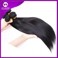 brazilian hair bulk - Brazilian hair Virgin human hair weaves weft Straight Natural Color inch Indian Malaysian Hair bundles bulk Extensions