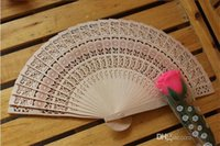 small fans - Bridal Wedding Fans Chinese Wooden Fans Bridal Accessories Handmade Fancy Cheap Wedding Favours Small Gifts for Guests Ladies Hand Fans