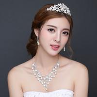 Moda Cristal nupcial Tiara Crown Accesorios para el cabello para la boda de quinceañera tiaras y coronas Joyería desfile nupcial del pelo de la venda Fascinato