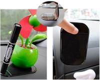 Wholesale 10pcs New Fashion hot sale dashboard pad Non Slip Anti Slip Mat Powerful Silica Sticky Pad For mp3 mp4 Car Magic