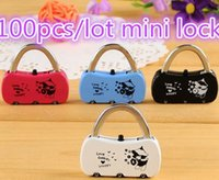 Wholesale 100PCS K139 practical private small objects alloy combination lock anti theft lock bags
