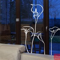 Cheap Calla women's bedrooms living room decorated shop windows and glass door stickers window stickers affixed Tieqiang