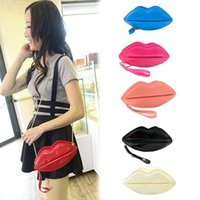 Wholesale New Handbag Chain Shoulder Diagonal Portable Personality Female Small Bag Patent Leather Lips Package BG