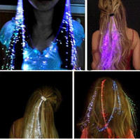 Wholesale Colorful Flash LED Hair Braid Clip Hairpin Decoration RGB Ligth Up For Show Party Dance Christmas Halloween light hair