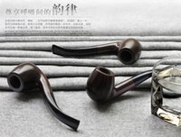 wooden smoking pipe - Ebony Wood Smoking Pipe Handmade Black Tobacco Pipe mm Filter Wooden Pipe cigarette pipe