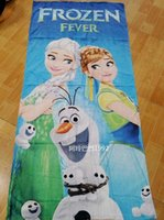 Wholesale 2015 NEW Frozen Elsa Anna Micky Mouse Beach Towels Cotton Cartoon Bath Towels Extra Large Size High Water absorbent