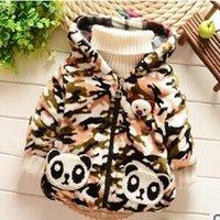 babi fashion - New Winter Babi Faux fur outerwear with panda print fashion babi coat with Hooded A274