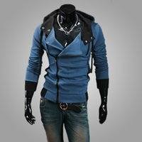 Cheap new winter specifically for men Slim oblique zipper placket Sexy hooded Jacket coat 0061