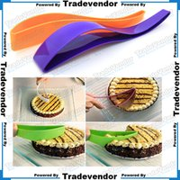 servers - Home Kitchen Party Level Cake Pie Slicer Cutter Cake Server Sheet Guide Cutter Server Bread Slice Knife Kitchen Spatula