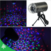laser light show - X1 EU V W Mini Laser Projector Light Full Color LED Crystal Voice activated Rotating RGB Stage Light Home Party Stage Club DJ Show