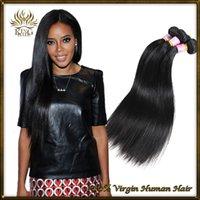 Wholesale Russian huuman hair unprocessed A virgin hair silk straight human hair weave straight bundles a