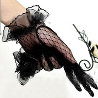 Wholesale Wrist Length Lace Mesh Gloves Wedding Bridal Party Prom Formal Gloves Colors Free Drop Shipping hot sales