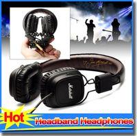 Cheap Genuine Marshall Major headphones With Mic Deep Bass DJ Hi-Fi Headphone HiFi Headset Professional DJ Monitor Earphone Original